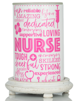 Dedicated Nurse Simmering Light with Antique White Base