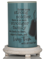 Soldier Appreciation Simmering Light with Antique White Base