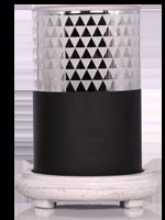 Black Diamond Simmering Light with Antique White Base