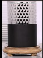 Black Diamond Simmering Light with Wood Grain Base