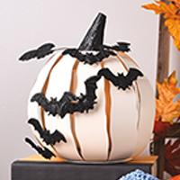 Spooky Bat Pumpkin Accent Shade