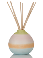 Multicolored Vase with Reeds