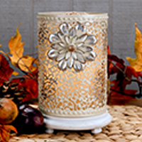 Gray Blooming Vines Accent Shade