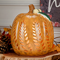 Detailed Ceramic Pumpkin Accent Shade