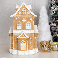 White Christmas Gingerbread House Accent Shade