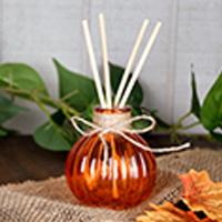 Orange Vase with Reeds