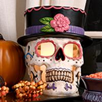 Top Hat Sugar Skull Accent Shade