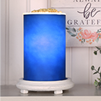 Blue Simmering Light with Antique White Base