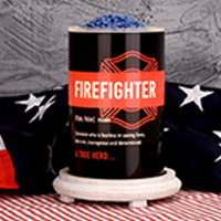 Firefighter Simmering Light with Antique White Base