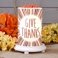 Give Thanks Simmering Light with Antique White Base