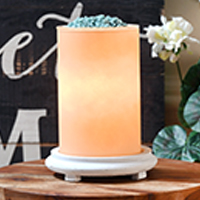 Candleglow Simmering Light with Antique White Base
